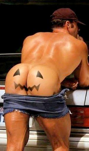HalloweenAssPumpkinFaceW